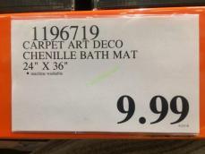 Costco-1196719- Carpet –Art-Deco-Chenille-Bath-Mat-tag