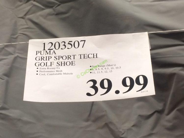 Puma Mens Grip Sport Tech Golf Shoe