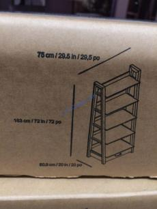 Costco-1119080-72- Ladder-Bookcase-size