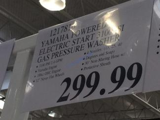 Costco-1217816-Yamaha-Powered-Electric-Start-3100PSI-Gas-Pressure-Washer-tag