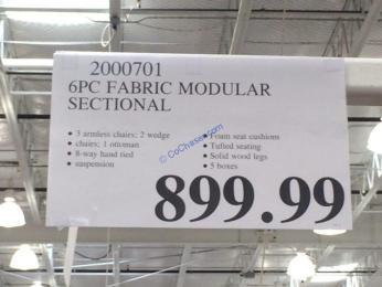 Costco-2000701-6PC-Fabric-Modular-Sectional-tag