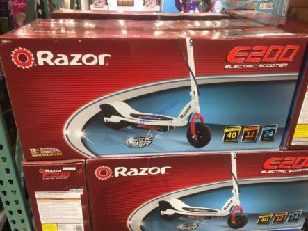 Costco-1199935-Razor-USA-E200-Electric-RedWhite-Scooter1