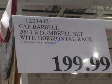 Costco-1231412-CAP-Barbell-200LB-Dumbbell-Set-Horizontal-Rack-tag