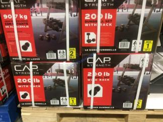 Costco-1231412-CAP-Barbell-200LB-Dumbbell-Set-Horizontal-Rack3