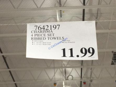 Costco-7642197-Charisma-4Piece-Set-Ribbed-Towels-tag