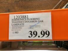 Costco-1203881-Harmonics-Flooring –Toasted-Cinnamon-Oak-Laminate-tag