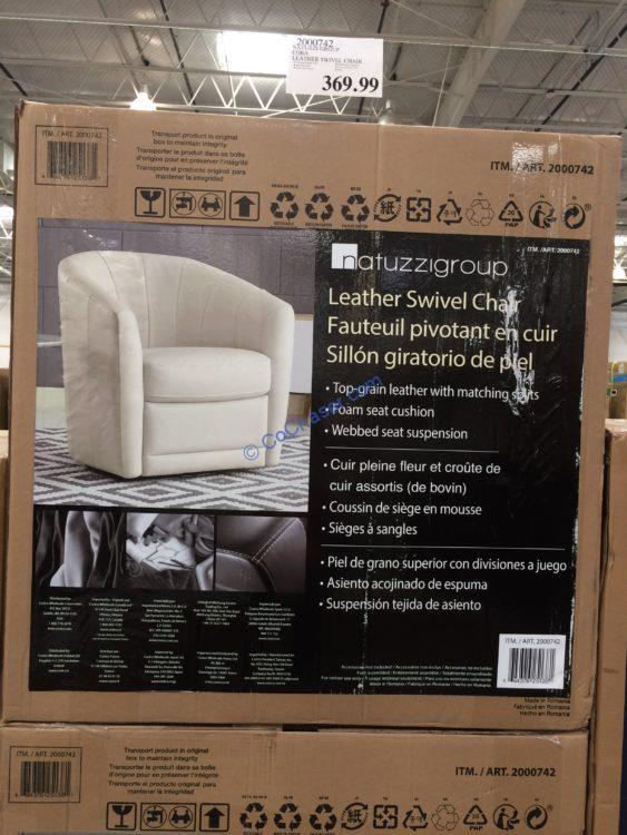 Natuzzi Group Cora Leather Swivel Chair Costcochaser