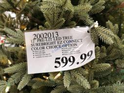 Costco-2002013-12'-Pre-Lit-LED-Christmas-Tree-Surebright-EZ-Connect-Color-tag