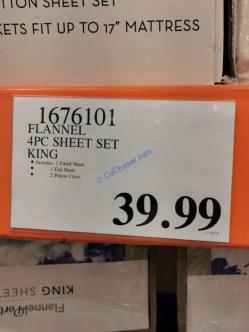 Costco-1676002-1676100-137610-Flannel-4PC-Sheet-Set-tag