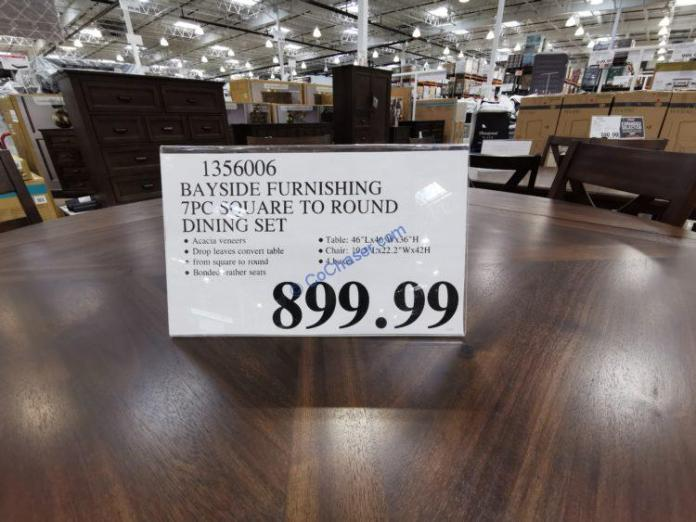 Costco-1356006-Bayside-Furnishings-7PC-Square-to-Round-Dining-Set-tag