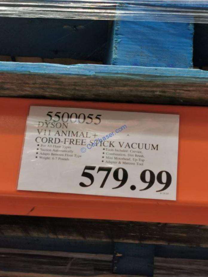 Costco-5500055-Dyson-V11-Animal-Cordless-Stick-Vacuum-Cleaner-tag