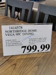 Costco-1414578-Northridge-Home-Vega-9-piece-Dining-Set-tag