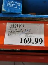 Costco-1461901-HoMedics-Deluxe-5-in-1-UV-C-Air-Purifier-tag