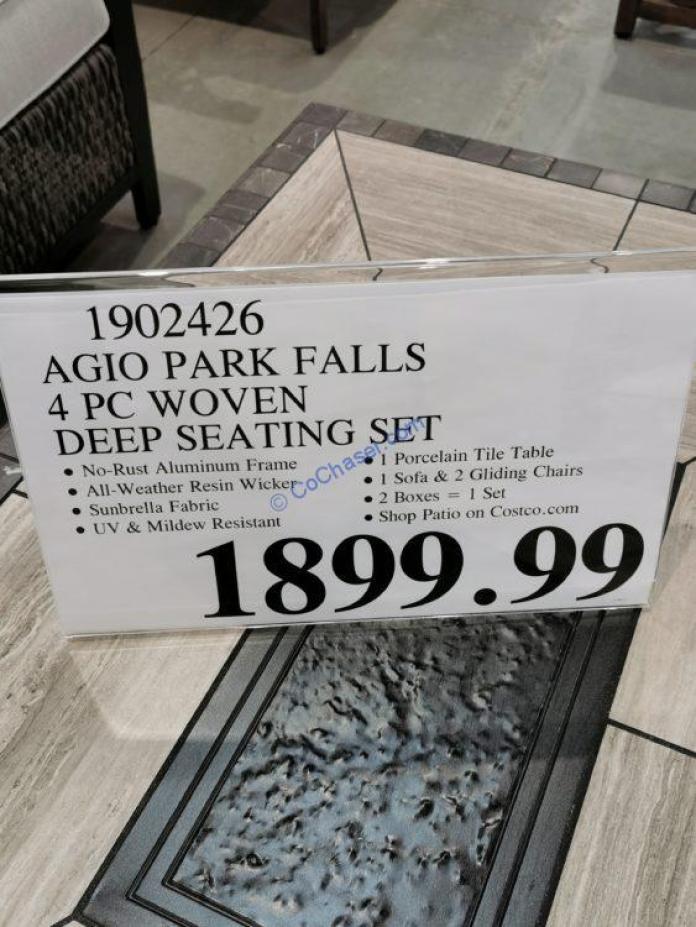 Costco-1902426-AGIO-Park-Falls-4PC-Woven-Deep-Seating-Set-tag