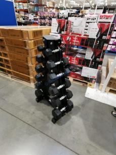 Costco-1480617-Inspire-Fitness-PVC-Hex-210lb-Dumbbell-Set1