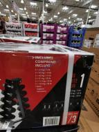 Costco-1480617-Inspire-Fitness-PVC-Hex-210lb-Dumbbell-Set5