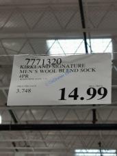 Costco-7771320-Kirkland Signature-Mens-Wool-Blend-Sock-tag
