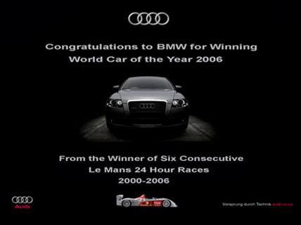 anuncio audi Guerra publicitaria entre Audi y BMW
