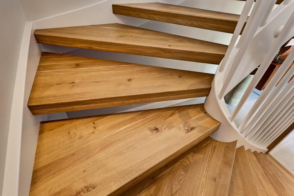 Radius White Oak Treads Open Spiral Staircase Cochrans Lumber | White Oak Stair Treads Home Depot | Risers | Red Oak Retread | Flooring | Stair Handrail | Landing Tread