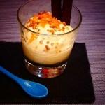 Postre con Queso Mascarpone y jugo de naranja