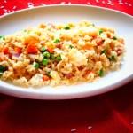 Receta de arroz chino a las tres delicias