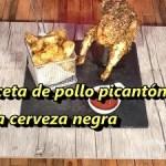 Picantones a la Cerveza Negra con guarnición de patatas