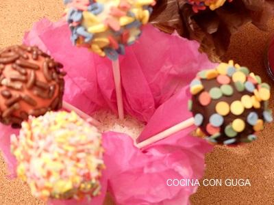 receta de cake pops