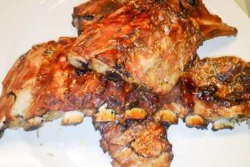 Costillas de cerdo a la miel