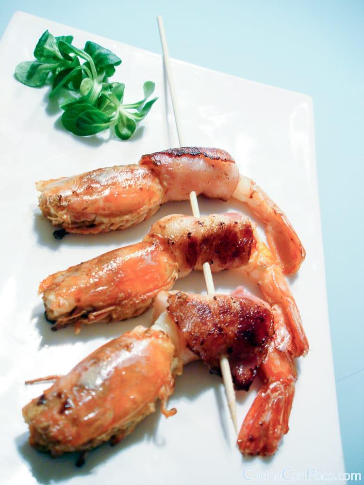 Gambon relleno roquefort y bacon