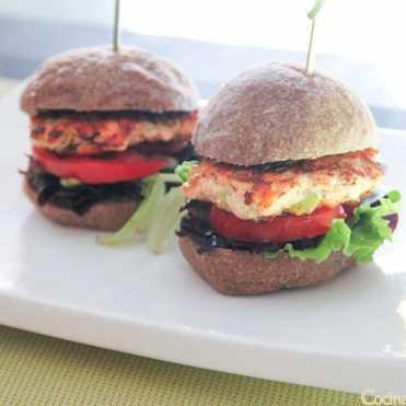 hamburguesa de salmon fresco