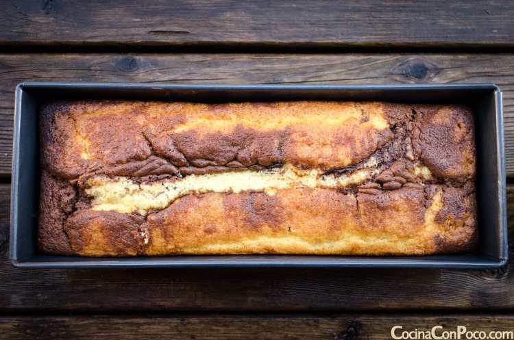 bizcocho marmolado marmoleado marmol receta sin gluten