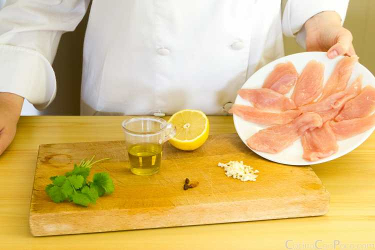 brochetas de pollo marinadas receta paso a paso