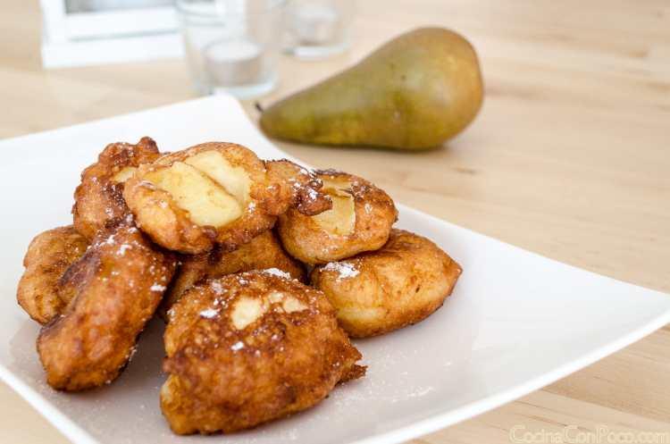 buñuelos dulces de pera receta