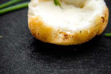 croquetas queso azul cabra