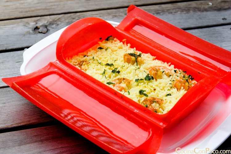 lekue vaporera receta vapor arroz gambas curry