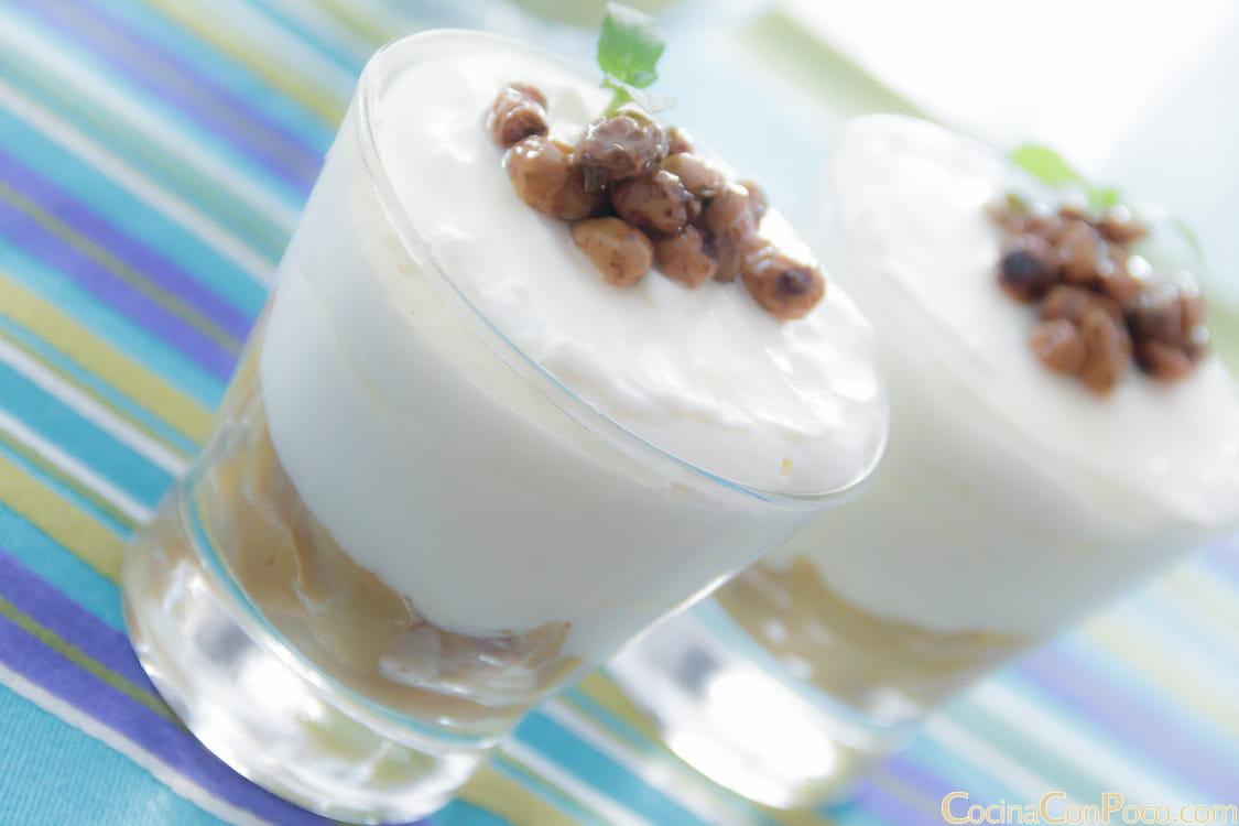 Mousse de yogur natural