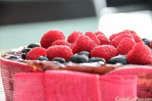 receta de quesada con frutas bosque