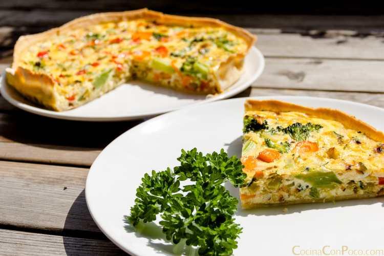 quiche verduras receta sin gluten paso a paso