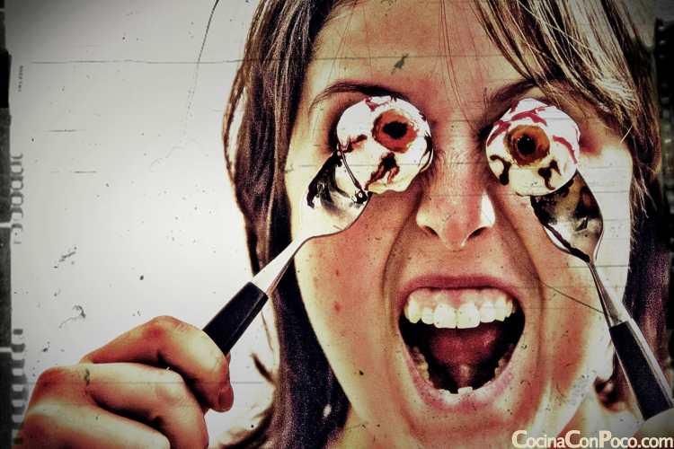 Recetas para Halloween – ojos sangrientos – ojos de loca