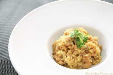 risotto de setas pavo y curry