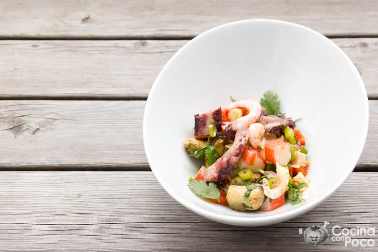 salpicón de marisco receta casera