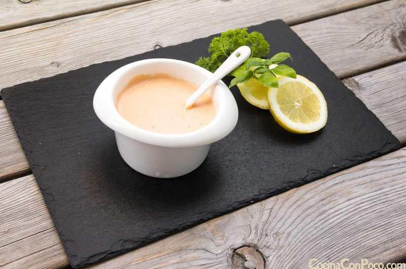 Salsa rosa casera - receta fácil