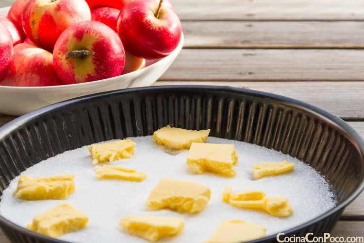 tarta tatin de manzana sin gluten