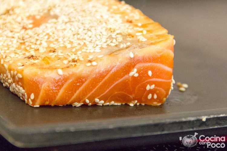 tataki de salmón receta paso a paso