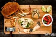 Buey de mar cocido preparacion