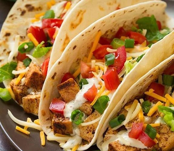 Tacos de Pollo a la parrilla con Cilantro