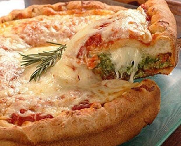 pizza stuffed crust casera
