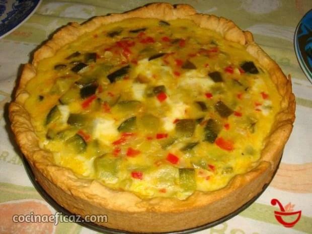 tarta de zapallitos verdes y mozzarella