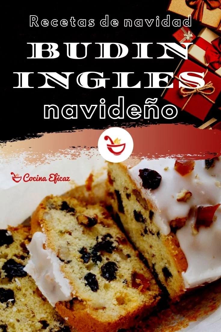 receta de budin ingles navideño
