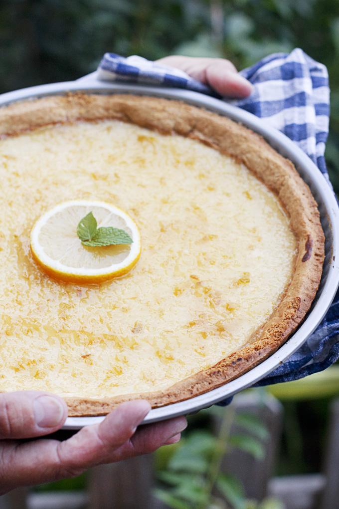 Tarta Griega de Queso, Miel y Limón